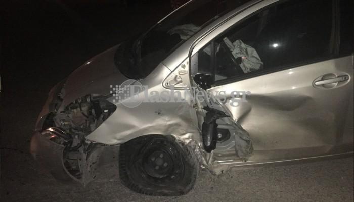 Τροχαίο ατύχημα με τρία αυτοκίνητα στα Χανιά (φωτο)