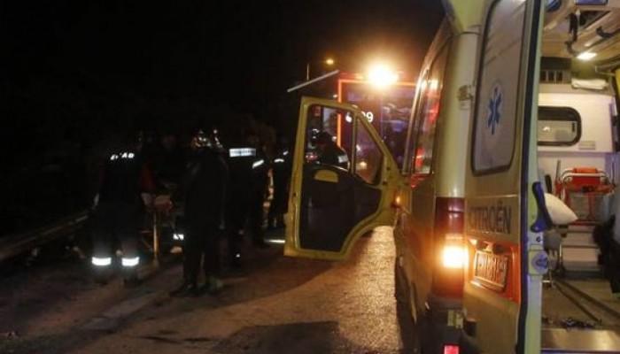 Τέσσερις τραυματίες εγκλωβίστηκαν σε τροχαίο στο Ρέθυμνο