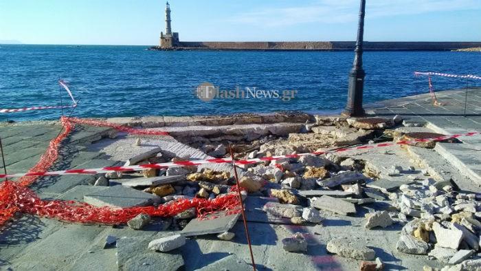 Βομβαρδισμένο τοπίο στο ενετικό λιμάνι στα Χανιά (φωτο)