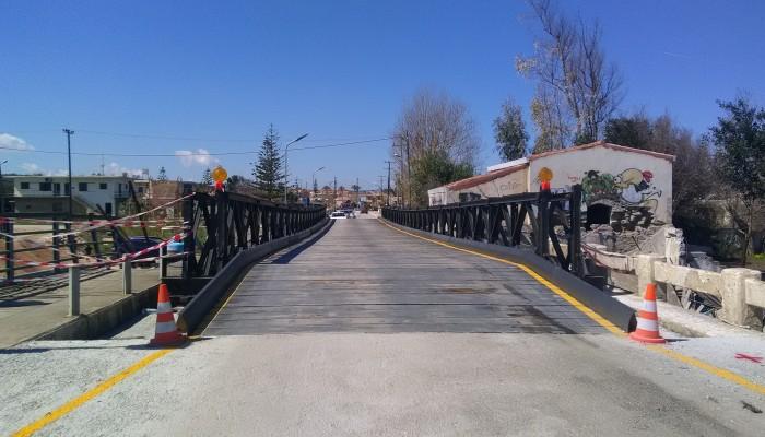 Ρυθμίσεις στην γέφυρα Βelley στον Πλατανιά για να περνούν και λεωφορεία