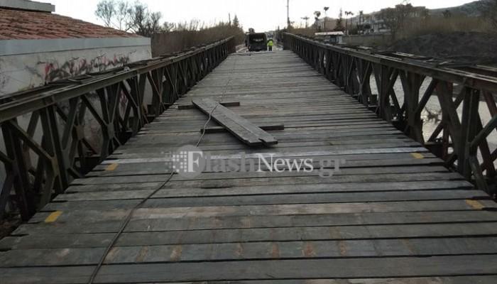 Ακατάλληλη για τα λεωφορεία η γέφυρα στον Πλατανιά!
