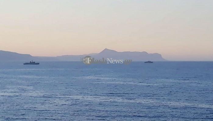 Πολεμικά πλοία του ΝΑΤΟ κοντά σε Γεωργιούπολη και Αδελιανό κάμπο (φωτο)