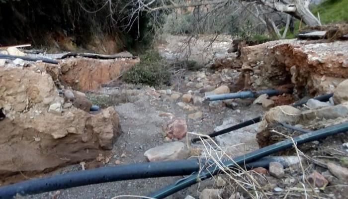 Τεράστιες καταστροφές και σε δίκτυα άρδευσης στον Δήμο Πλατανιά (φωτο)