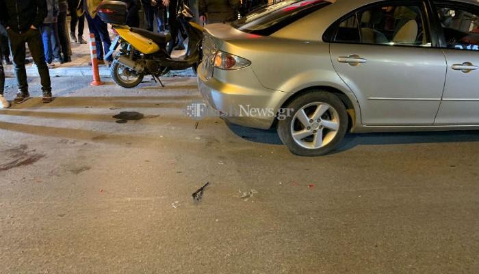 Τροχαίο με έναν τραυματία δικυκλιστή στο κέντρο των Χανίων