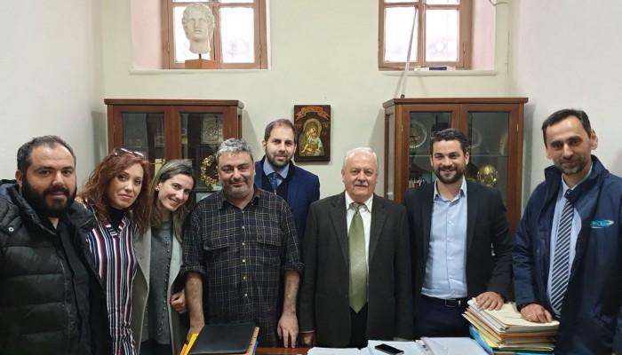Επίσκεψη Παναγιώτη Σημανδηράκη στο δικηγορικό σύλλογο Χανίων (φωτο)