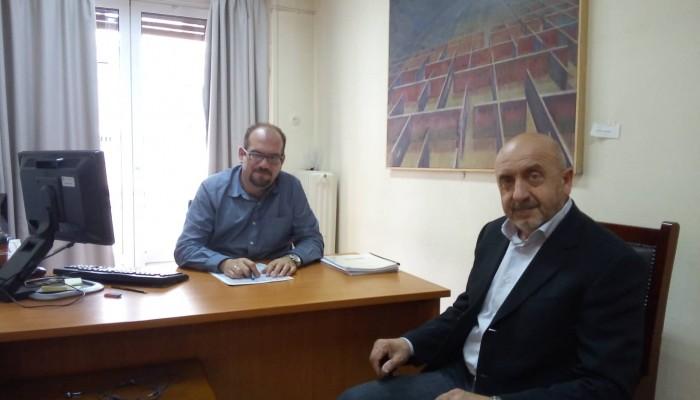 Συνάντηση δημάρχου Σφακίων με τον Υπουργό εσωτερικών