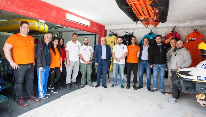 Επίσκεψη Ευτύχη Δαμιανάκη στην Εθελοντική Ναυαγοσωστική Ομάδα του ΝΟΧ