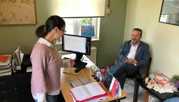Επίσκεψη του υποψήφιου δημάρχου Χανίων Γρ.Αρχοντάκη σε κοινωνικές δομές