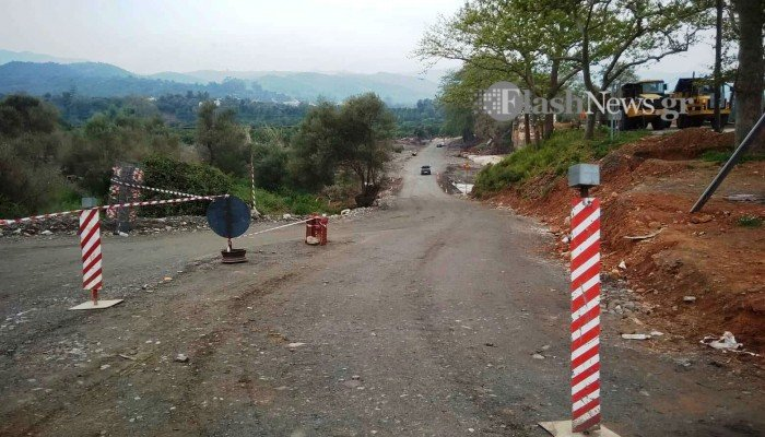 Σε ετοιμότητα οι κάτοικοι για να κλείσουν τον πρόχειρο δρόμο στον Κερίτη (φωτο)