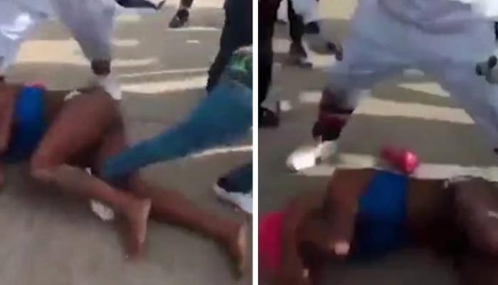 Σκληρό βίντεο με διεμφυλική γυναίκα που τη γρονθοκοπούν και την κλωτσούν