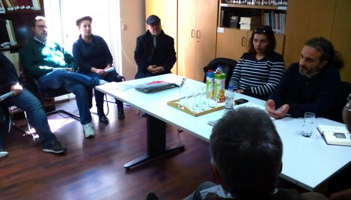 Επίσκεψη Σεραφείμ Ρίζου στην Εφορεία Αρχαιοτήτων
