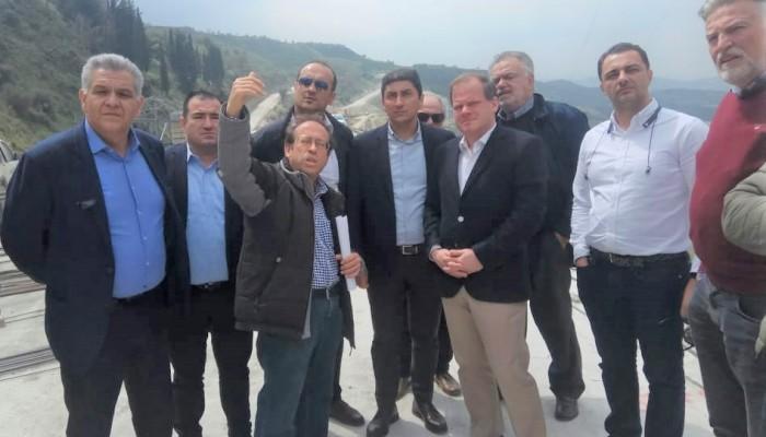 Καραμανλής – Αυγενάκης στο εργοτάξιο του δρόμου Ηράκλειο - Μεσαρά
