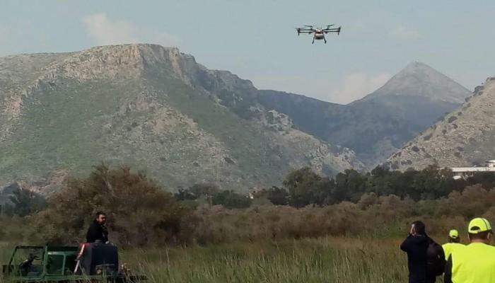 Ηράκλειο: Με drone η μάχη κατά των κουνουπιών (φώτος)
