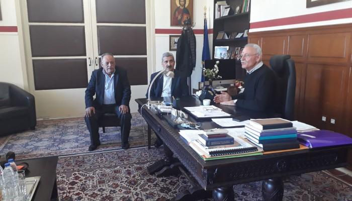 Συνάντηση Μ. Ντουντουλάκη με Απ. Βουλγαράκη για τις ζημιές στον Δήμο Πλατανιά
