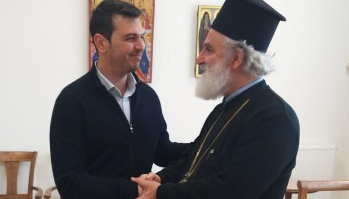Ο Αλέξανδρος Μαρκογιαννάκης συζήτησε με τον Μητροπολίτη Ανδρέα