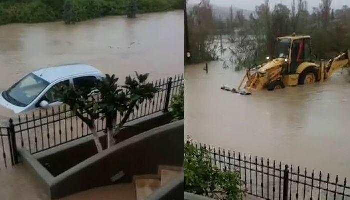Στο έλεος της βροχής η Ανατολική Κρήτη - Επιχειρήσεις διάσωσης (βίντεο)
