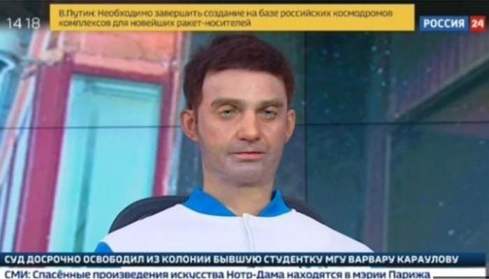 Ρωσία: Ρομπότ.. ο νέος παρουσιαστής ειδήσεων στο κανάλι «Rossiya 24»