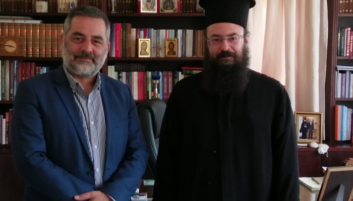 Συνάντηση δημάρχου Οροπεδίου Λασιθίου με τον Σεβασμιότατο Μητροπολίτη Πέτρας