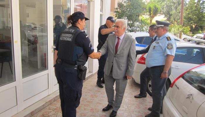 Στην Κρήτη ο αρχηγός της ΕΛΑΣ, Αντιστράτηγος Αριστείδης Ανδρικόπουλος