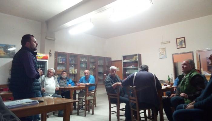 Στα χωριά του Πλατανιά ο υποψήφιος δήμαρχος Πλατανιά Δημήτρης Ανθούσης
