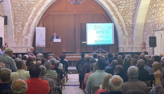 Μήνυμα νίκης από την πρώτη Κυριακή έστειλε το Ρέθυμνο στην ομιλία του Σταύρου Αρναουτάκη
