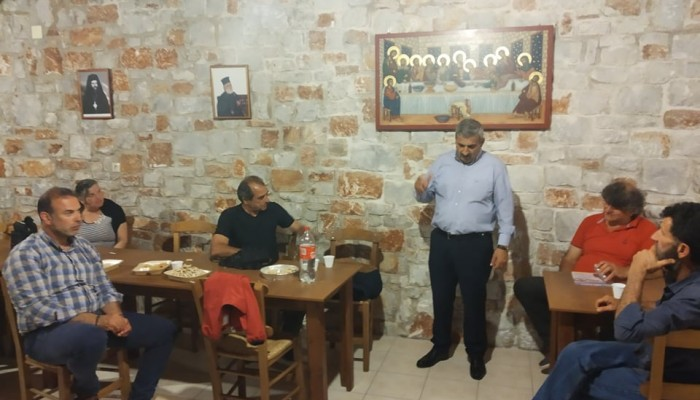 Στο Κολυμπάρι ο υποψήφιος δήμαρχος Πλατανιά Μανώλης Ντουντουλάκης (φωτο)