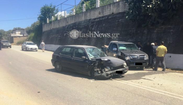 Δύο τραυματίες σε τροχαίο ατύχημα στον Αλικιανό στα Χανιά (φωτο)