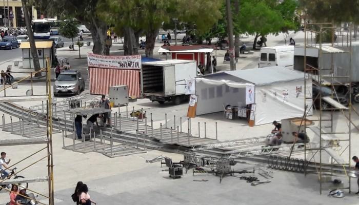 Πυρετώδεις προετοιμασίες για την άφιξη του Αλέξη Τσίπρα (φώτο)