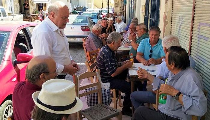 Ο Μανώλης Αλιφιεράκης στη Γέργερη και στη Λαϊκή Αγορά