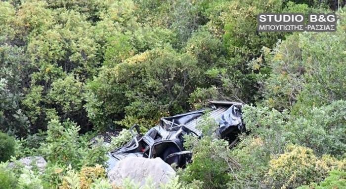 Τύχη βουνό για οδηγό αγροτικού -Επεσε από γκρεμό και σώθηκε