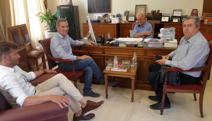 Συναντήσεις Βασίλη Λαμπρινού με Εμπορικό Σύλλογο και ΟΕΒΕΝΗ