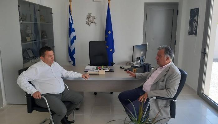 Συνάντηση του υποψήφιου βουλευτή του ΜέΡΑ 25 Γιώργου Λογιάδη με το  δήμαρχο Χερσονήσου