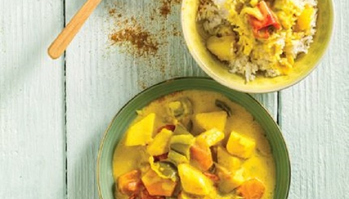 Κάρι ανοιξιάτικων λαχανικών με μπαχαρικά