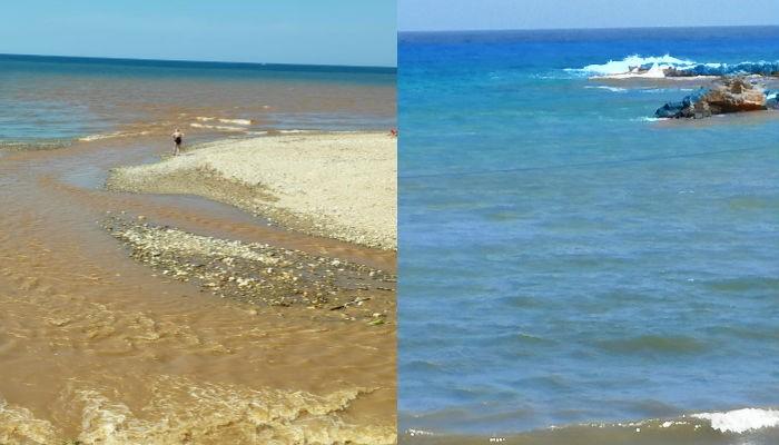 Τι συμβαίνει στην θάλασσα της Νέας Χώρας στα Χανιά; (φωτο)