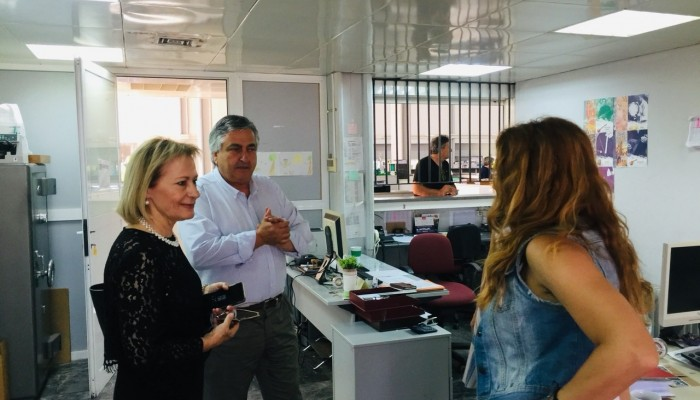 Με τους εργαζόμενους υπηρεσιών του Ηρακλείου συναντήθηκε η Θεανώ Βρέντζου - Σκορδαλάκη