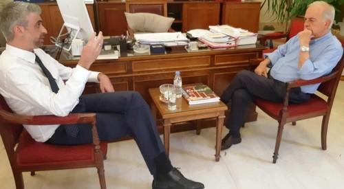 Συνάντηση Δημάρχου Ηρακλείου Βασίλη Λαμπρινού με τον Πρόεδρο του Οικονομικού Επιμελητηρίου