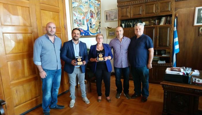 Εθιμοτυπική επίσκεψη του ΔΣ της Έν. Ειδικών Φρουρών Κρήτης στην Αντιπεριφερειάρχη Ρεθύμνου
