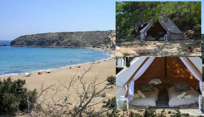 Η απάντηση της ομάδας που έστησε τις 7 επίμαχες σκηνές Airbnb σε παραλία στη Γαύδο