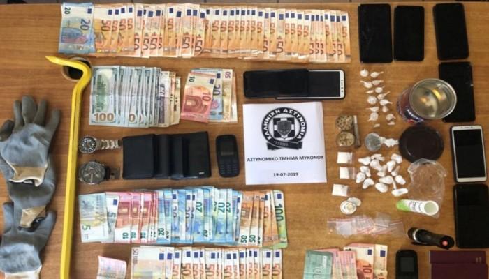 Τι βρήκαν οι αστυνομικοί στα σπίτια των διαρρηκτών των εξοχικών στη Μύκονο
