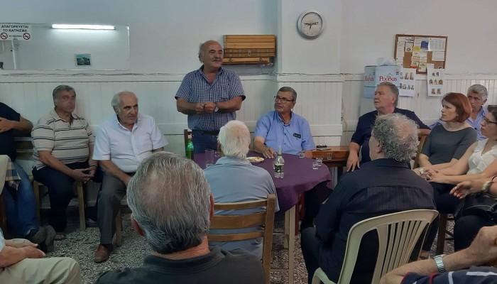 Ανδρέας Στρατάκης: «Θερμή» υποδοχή στο Αρκαλοχώρι