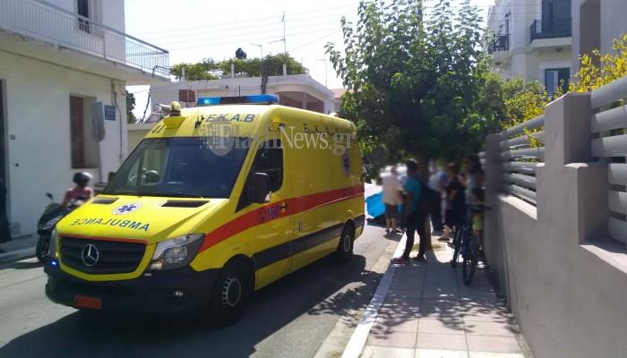 Τροχαίο με τραυματισμό στο κέντρο των Χανίων (φωτο)