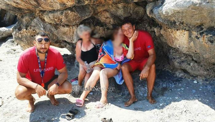Δραματική επιχείρηση διάσωσης γυναίκας στον Πλακιά Ρεθύμνου (φωτο)