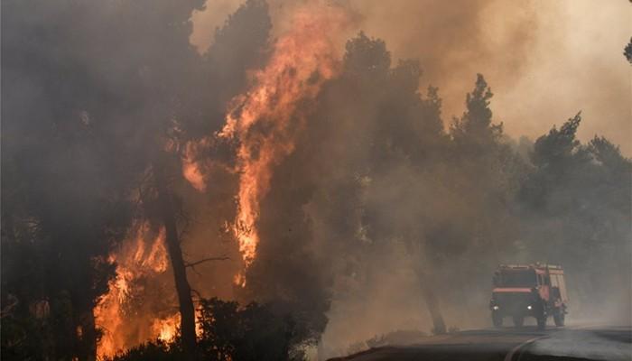 Τιτάνια η μάχη των πυροσβεστών στην Εύβοια - Τεράστια οικολογική καταστροφή (βίντεο)