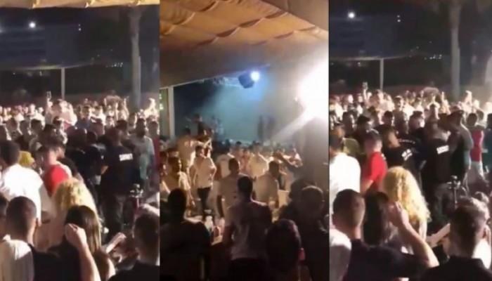 Άγριο ξύλο στο μαγαζί που τραγουδούσε ο Μαζωνάκης - Φυγαδεύτηκε ο τραγουδιστής (βίντεο)