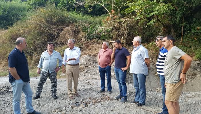Ο Μανούσος Βολουδάκης στα Μεσκλά, για τα έργα αποκατάστασης των ζημιών από τις πλημμύρες