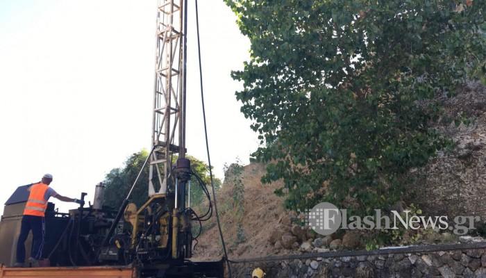 Ξεκίνησαν οι διερευνητικές γεωτρήσεις στον επιπρομαχώνα του Αγ.Δημητρίου (βίντεο + φωτο)