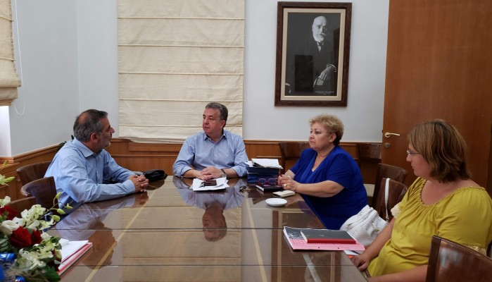 Συνάντηση εργασίας Περιφερειάρχη  με Δήμαρχο Οροπεδίου Λασιθίου