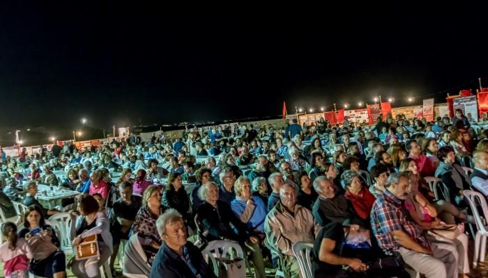 Πλήθος κόσμου στο φεστιβάλ της ΚΝΕ