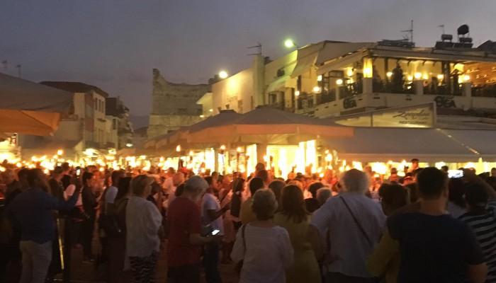 Μια μεγάλη γιορτή Ζωής η λαμπαδηδρομία εθελοντών αιμοδοτών στα Χανιά (φωτό- βίντεο)