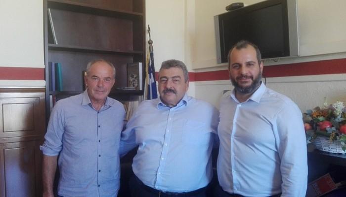 Εθιμοτυπική επίσκεψη πραγματοποίησε ο προέδρος του ΕΒΕΧ με τον νέο Αντιπεριφερειάρχη
